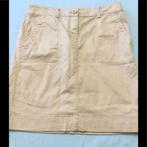 Loft Khaki Pocket Midi Skirt Sz. 00